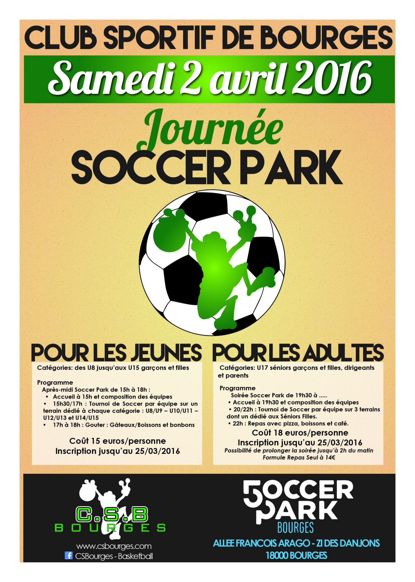 Affiche journee soccer park