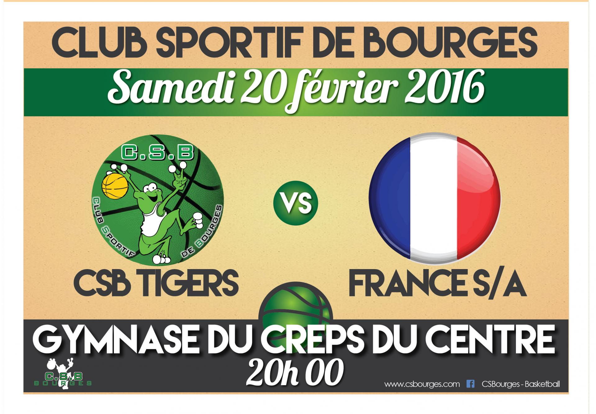 Affiche match france sa 2016