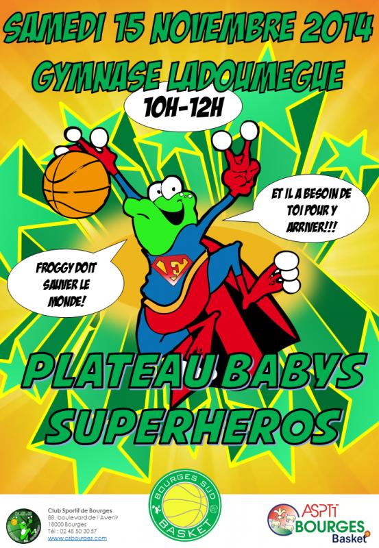 Affiche plateau baby superhero