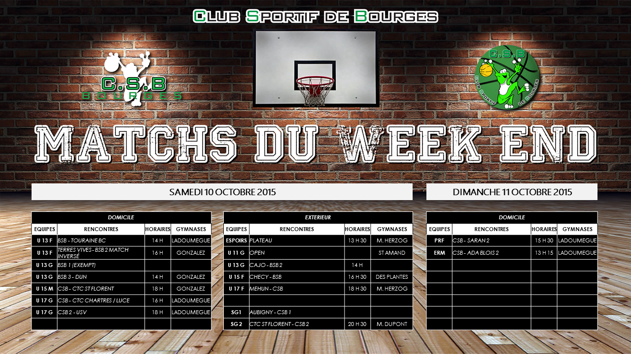 Match du week end 1