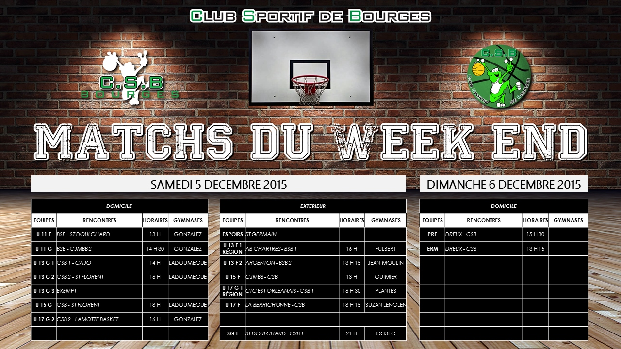 Match du week end