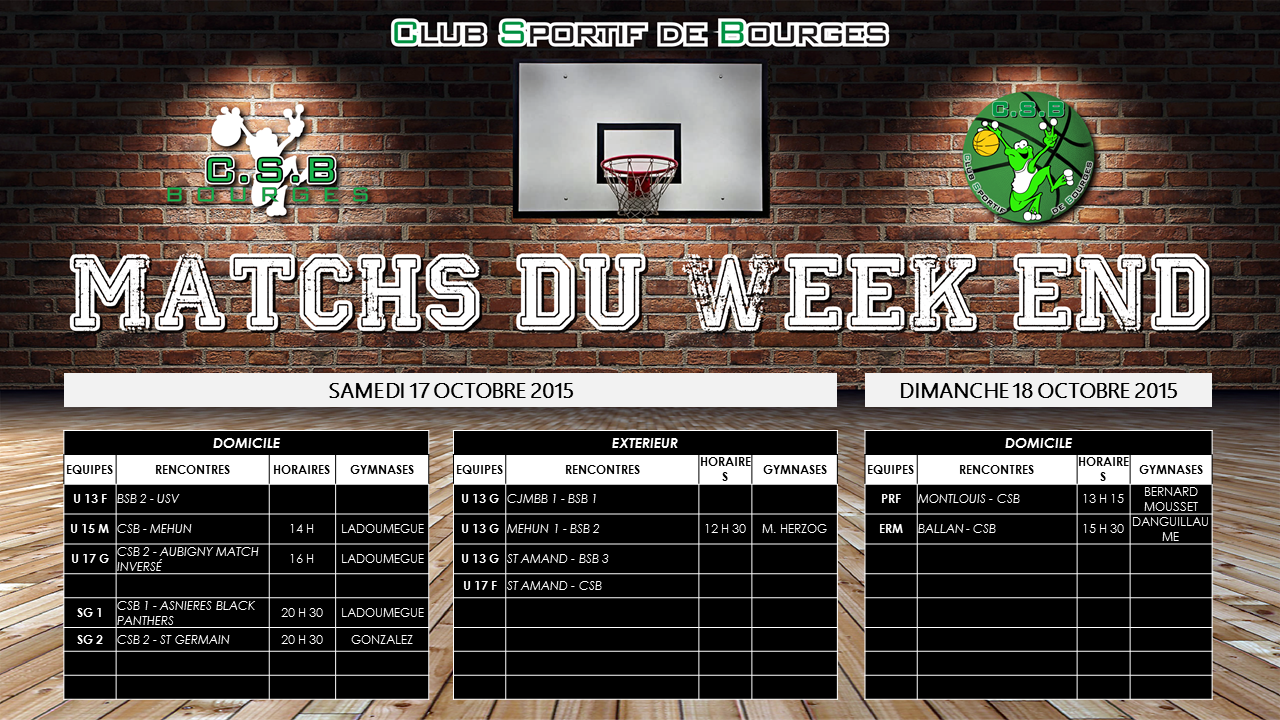 Match du week end 2