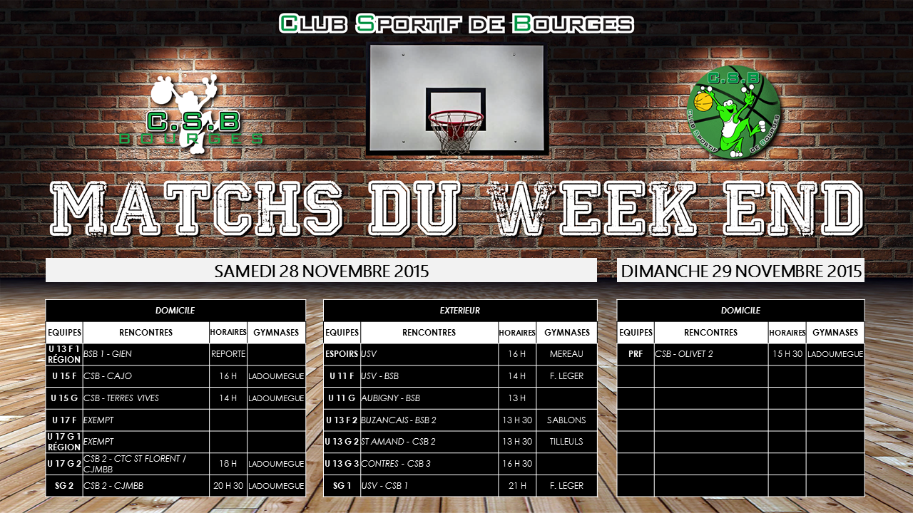 Match du week end 4