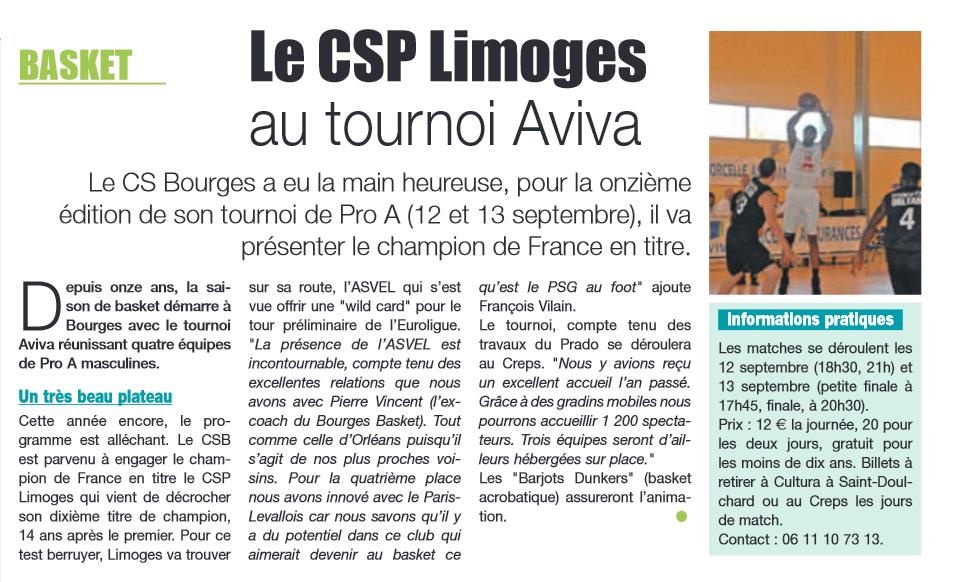 Nouvelles de bourges - Trophée Aviva 2014