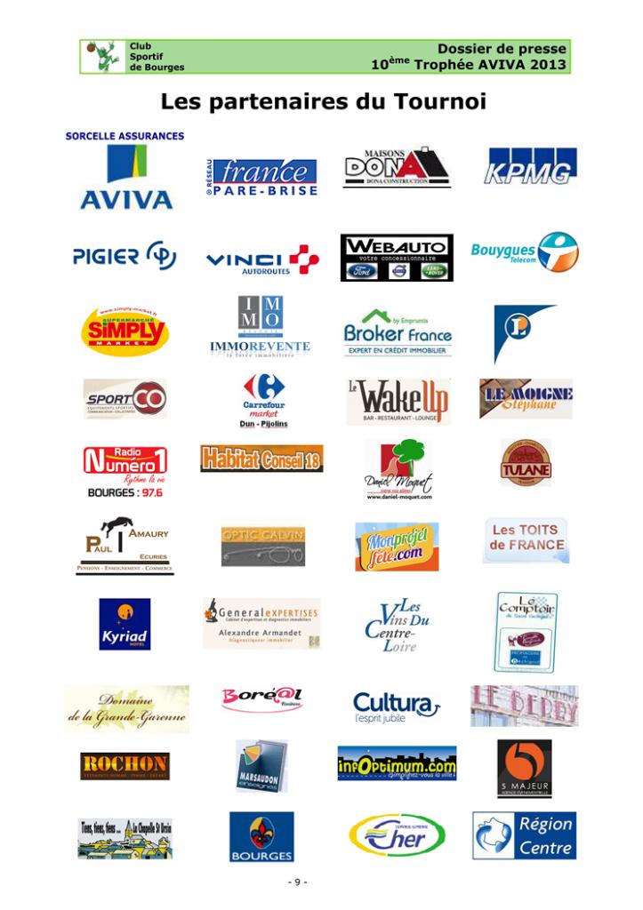 Partenaires AVIVA 2013