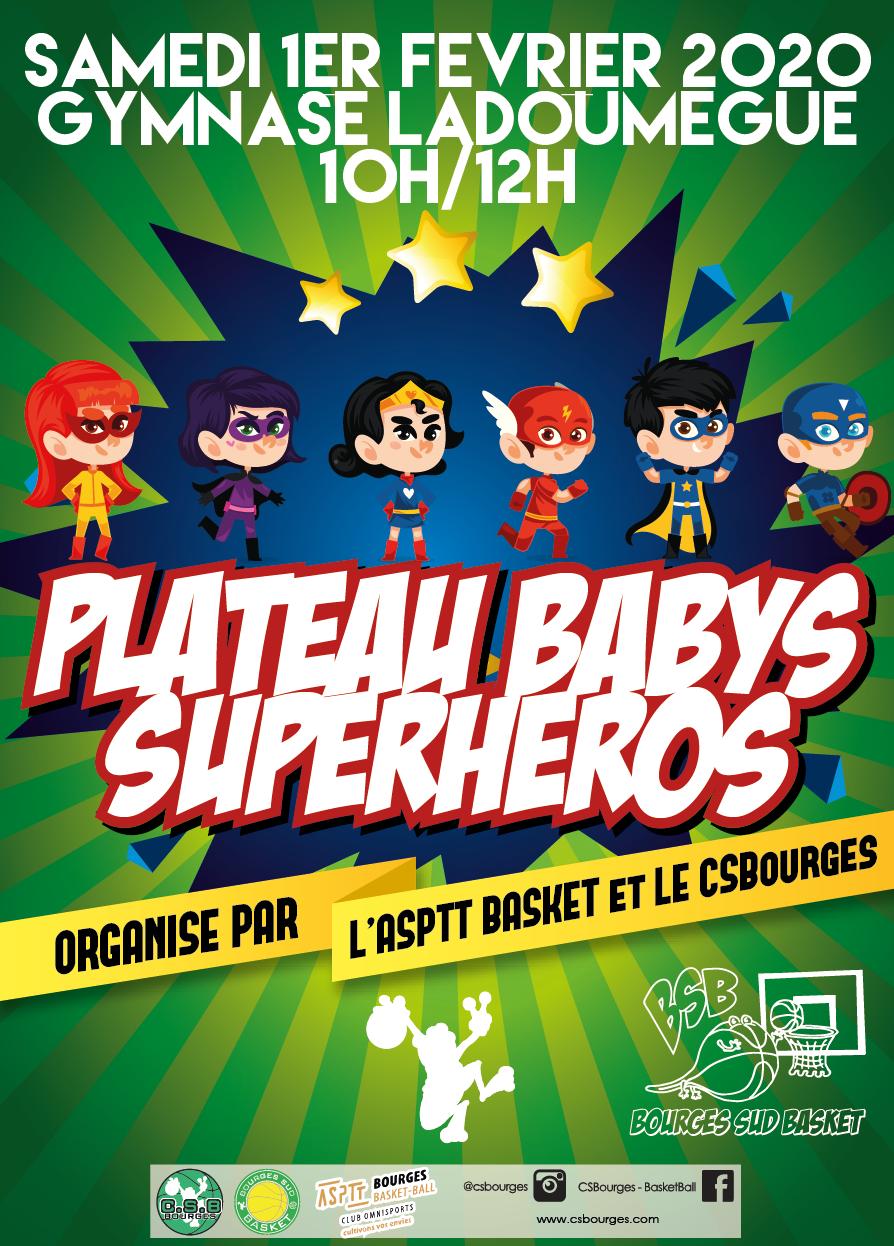 Plateau babys superheros 2019